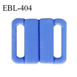 Boucle clip 20 mm attache réglette pvc spécial maillot de bain couleur bleu myosotis haut de gamme prix à l'unité