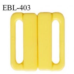 Boucle clip 30 mm attache réglette pvc spécial maillot de bain couleur jaune haut de gamme prix à l'unité