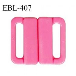 Boucle clip 20 mm attache réglette pvc spécial maillot de bain couleur rose haut de gamme prix à l'unité