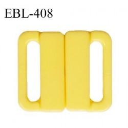 Boucle clip 20 mm attache réglette pvc spécial maillot de bain couleur jaune haut de gamme prix à l'unité