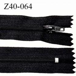 Fermeture zip à glissière longueur 40 cm couleur noir non séparable largeur 2.5 cm zip glissière nylon largeur du zip 4 mm