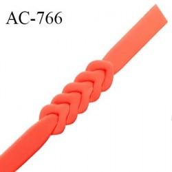 Ceinture ou bretelle 25 mm couleur nectarine style néoprène extensible largeur 2.5 cm longueur 55.5 cm prix à l'unité