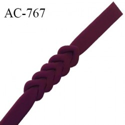 Ceinture ou bretelle 25 mm couleur pourpre style néoprène extensible largeur 2.5 cm longueur 55.5 cm prix à l'unité