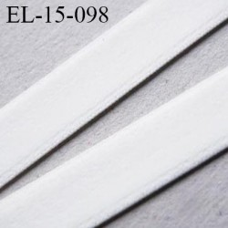Elastique 16 mm velours sur une face couleur naturel écru très doux bonne élasticité largeur 16 mm prix au mètre