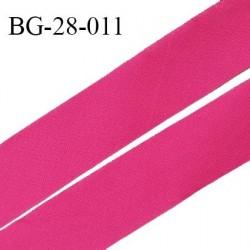 Biais à plat 28 mm à plier en polycoton couleur rose largeur 28 mm prix au mètre