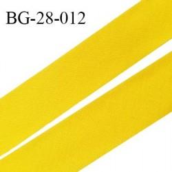 Biais à plat 28 mm à plier en polycoton couleur jaune largeur 28 mm prix au mètre