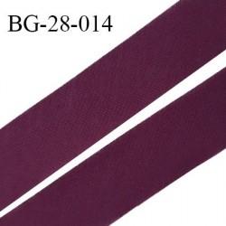Biais à plat 28 mm à plier en polycoton couleur pourpre largeur 28 mm prix au mètre