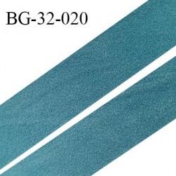 Droit fil à plat 32 mm spécial lingerie et prêt à porter couleur bleu vert style duveteux fabriqué en France prix au mètre
