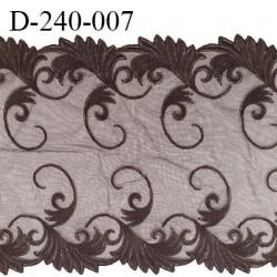 Dentelle broderie 24 cm très haut de gamme extensible largeur 24 cm couleur café très belle prix pour un mètre