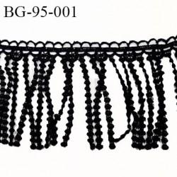 Galon frange 95 mm couleur noir passementerie hauteur 95 mm prix au mètre