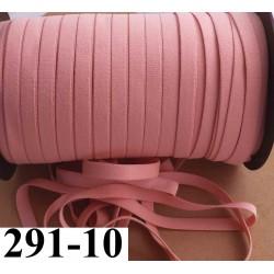 élastique plat largeur 10 mm couleur rose camélia vendu au mètre