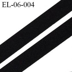 Elastique 6 mm spécial lingerie  polyamide élasthanne fin  noir  fabriqué en France grande marque largeur 6  mm prix au mètre