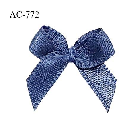 Noeud lingerie satin 20 mm couleur encre bleue haut de gamme largeur 20 mm hauteur 20 mm prix à l'unité