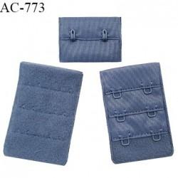 Agrafe 38 mm attache SG haut de gamme couleur encre bleue 3 rangées 2 crochets hauteur 57 mm fabriqué en France prix à l'unité