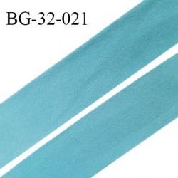 Droit fil à plat 32 mm spécial lingerie et prêt à porter couleur bleu polaire style duveteux fabriqué en France prix au mètre