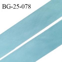 Droit fil à plat 26 mm spécial lingerie et prêt à porter couleur bleu polaire fabriqué en France prix au mètre