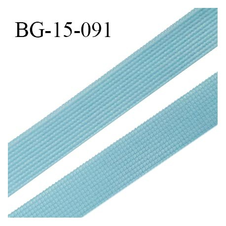 Droit fil à plat 15 mm spécial lingerie et prêt à porter couleur bleu polaire fabriqué en France prix au mètre