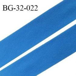 Droit fil à plat 32 mm spécial lingerie et prêt à porter couleur bleu royal style duveteux fabriqué en France prix au mètre