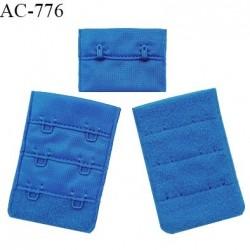 Agrafe 38 mm attache SG haut de gamme couleur bleu royal 3 rangées 2 crochets fabriqué en France prix à l'unité