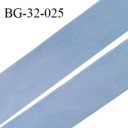 Droit fil à plat 32 mm spécial lingerie et prêt à porter couleur aigue marine style duveteux fabriqué en France prix au mètre