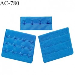 Agrafe 75 mm attache SG haut de gamme couleur bleu royal 3 rangées 4 crochets fabriqué en France prix à l'unité