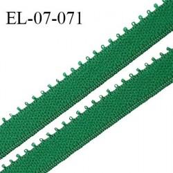 Elastique 7 mm bretelle et lingerie couleur vert irlandais largeur 7 mm haut de gamme Fabriqué en France prix au mètre