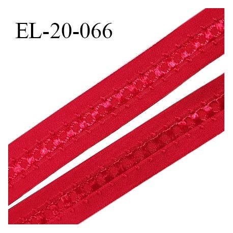Elastique 19 mm bretelle et lingerie couleur rouge fabriqué en France pour une grande marque largeur 19 mm prix au mètre