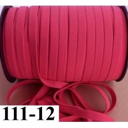 élastique plat largeur 12 mm couleur rose sorbet vendu au mètre