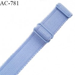 Bretelle 24 mm lingerie SG haut de gamme grande marque couleur bleu ciel finition avec 2 barrettes prix à la pièce