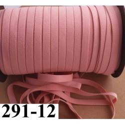 élastique plat largeur 12 mm couleur rose camélia vendu au mètre