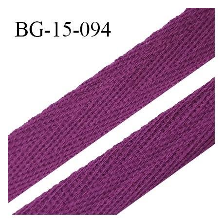 Biais sergé 15 mm galon 100 % coton couleur violine largeur 15 mm souple et très doux prix au mètre