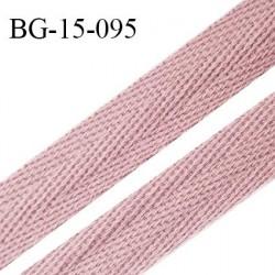 Biais sergé 15 mm galon 100 % coton couleur vieux rose largeur 15 mm souple et très doux prix au mètre