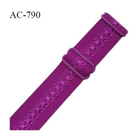 Bretelle lingerie SG 24 mm très haut de gamme couleur fuchsia avec 2 barrettes prix à l'unité