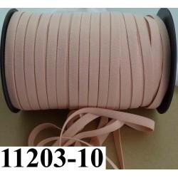 élastique plat largeur 10 mm couleur pèche core au mètre