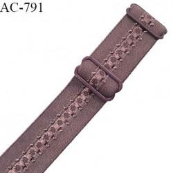 Bretelle lingerie SG 24 mm très haut de gamme couleur macchiato avec 2 barrettes prix à l'unité