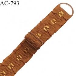 Bretelle 16 mm lingerie SG couleur havane très haut de gamme finition avec 1 barrette + 1 anneau prix à la pièce