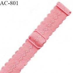 Bretelle lingerie SG 19 mm très haut de gamme couleur fraise avec 2 barrettes prix à l'unité