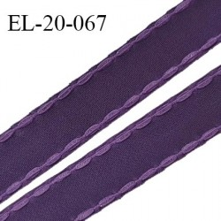 Elastique 20 mm bretelle et lingerie avec surpiqûres couleur chianti ou aubergine fabriqué en France prix au mètre