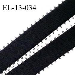 Elastique 13 mm picots couleur noir haut de gamme polyamide élasthanne largeur 13 mm prix au mètre