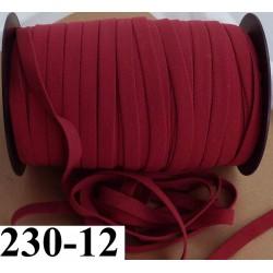 élastique plat largeur 12 mm couleur grenat vendu au mètre