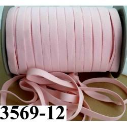 élastique plat largeur 12 mm couleur rose eden vendu au mètre