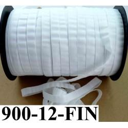 élastique plat largeur 12 mm couleur blanc épaisseur fine vendu au mètre