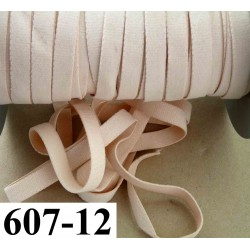 élastique plat largeur 12 mm couleur abricot vendu au mètre
