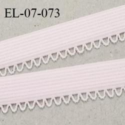 Elastique 7 mm lingerie haut de gamme fabriqué en France élastique souple couleur beige rosé prix au mètre