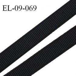 Elastique 9 mm lingerie haut de gamme fabriqué en France couleur noir bonne élasticité prix au mètre
