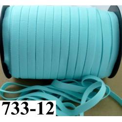 élastique plat largeur 12 mm couleur bleu vert lagon vendu au mètre
