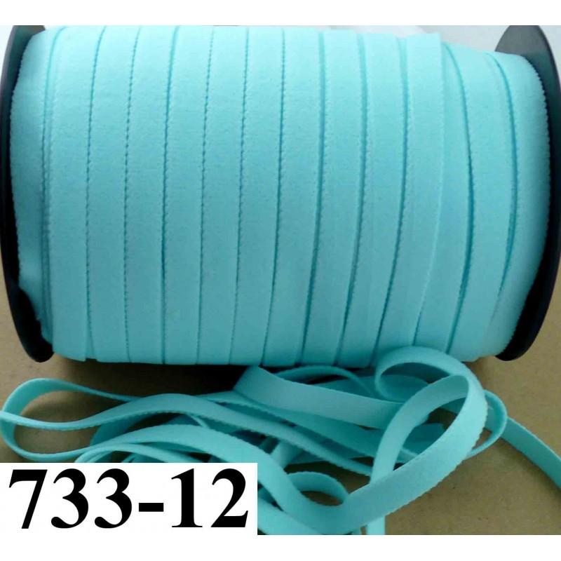 lastique plat largeur 12 mm couleur bleu vert lagon vendu au m tre mercerie extra. Black Bedroom Furniture Sets. Home Design Ideas