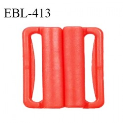 Boucle clip 16 mm attache réglette pvc spécial maillot de bain couleur coquelicot haut de gamme prix à l'unité