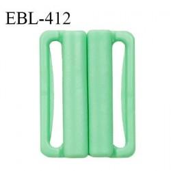 Boucle clip 30 mm attache réglette pvc spécial maillot de bain couleur vert haut de gamme prix à l'unité