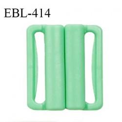 Boucle clip 25 mm attache réglette pvc spécial maillot de bain couleur vert haut de gamme prix à l'unité